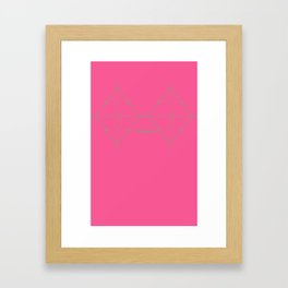 Rhombusty - Hot Pink Framed Art Print