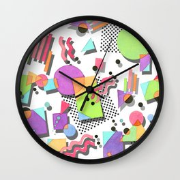 Rad 80s Memphis Wall Clock
