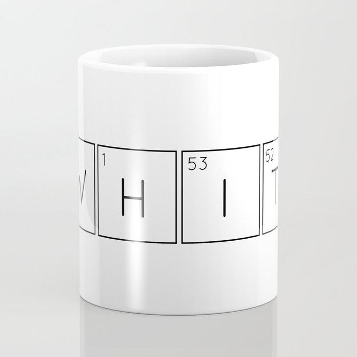 WHITe Chemical Formula Coffee Mug