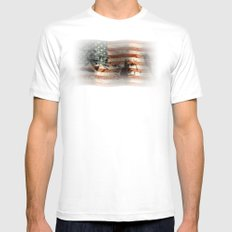 The Rise of a Nation White Mens Fitted Tee MEDIUM
