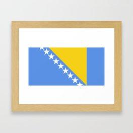 Flag of Bosnia and Herzegovina Framed Art Print