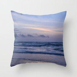 Blue Morning at the Beach Throw Pillow