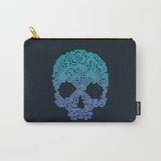 Labyrinthine Skull - Neon Carry-All Pouch