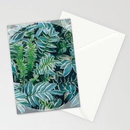 Greenery Circle Stationery Cards