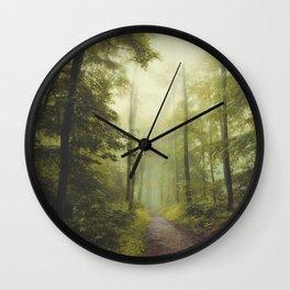 Long Forest Walk Wall Clock