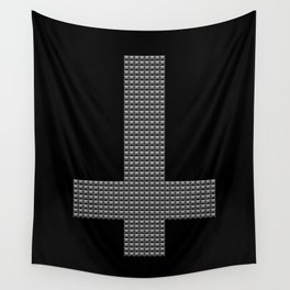 Inverted Studded Cross Wall Tapestry
