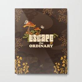 Escape the Ordinary, Enchanted Garden Wonderland  |  Brown Metal Print