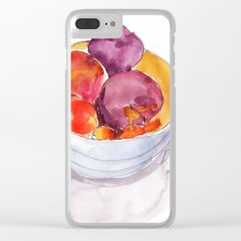 Stone Fruit Clear iPhone Case