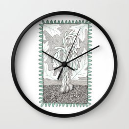Indianpipe Woodland Native Wall Clock