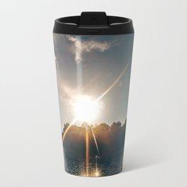 Sunshine on the River Metal Travel Mug