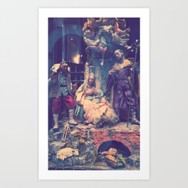 Christmas Nativity Scene Art Print