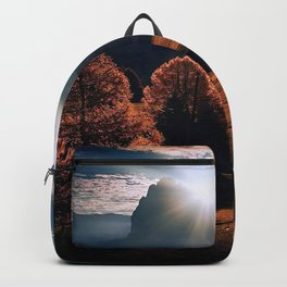 Natural painting of shadow and light in Italy Backpack