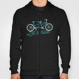 Let's Ride Tandem Bicycle - Teal Hoody