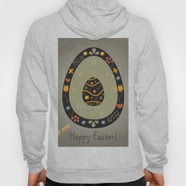 Festive Easter Egg with Cute Egg inside Hoody