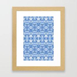 Blue on white dubble exposed Framed Art Print