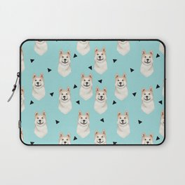 Akita dog pattern triangles cute dog portrait pet friendly dog breeds akitas Laptop Sleeve
