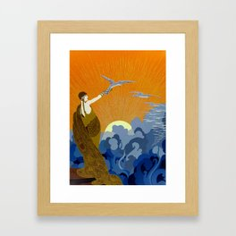 """Wings of Victory"" Art Deco Design Framed Art Print"