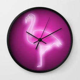 FLAMINGO NEON LIGHT SIGN Wall Clock