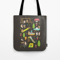 play Tote Bags featuring Play by Reg Silva / Wedgienet.net