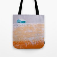 home alone Tote Bags featuring ALONE by Olga Krokhicheva