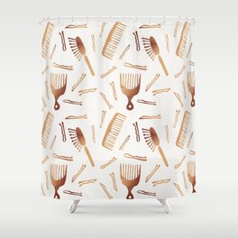 Good Hair Day – Rose Gold Palette Shower Curtain