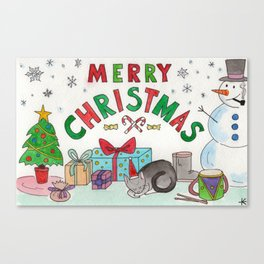 Christmas Card! Canvas Print