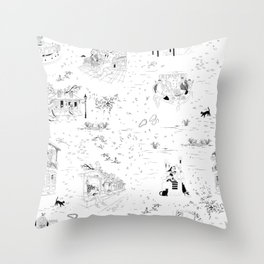 New Orleans Toile Throw Pillow