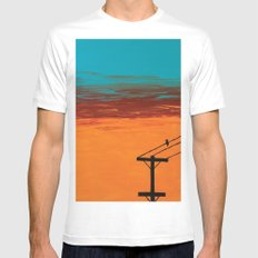 Bird On A Wire Mens Fitted Tee White MEDIUM