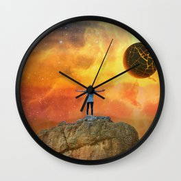 The End, Sci Fi Art, Home Decor, Scenic Wall Art, Printable Artwork, Digital Print, Fantasy Wall Clock