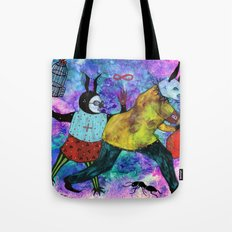 Rabbits Tricks Tote Bag