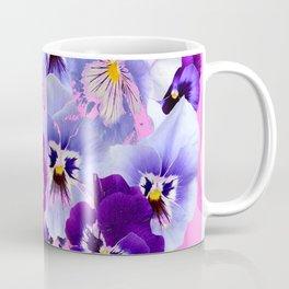 SPRING COLLECTION PURPLE-PINK PANSIES Coffee Mug