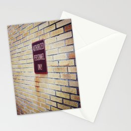 authOrIzed perS0nNel 0nLy! Stationery Cards