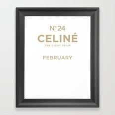 Celiné the Light Beam  Framed Art Print