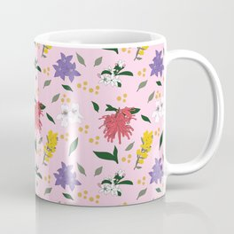Australian Native Flowers Pink Coffee Mug