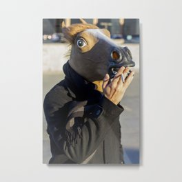 Smoking Horseman  Metal Print