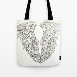 Inked Angel Wings Tote Bag