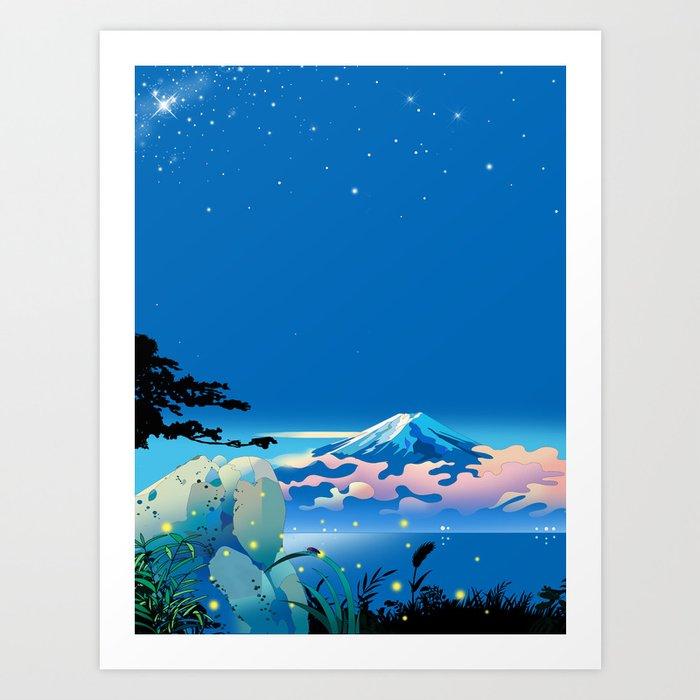the fireflies Art Print