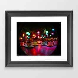 Disneyland Teacups  Framed Art Print