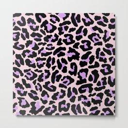 Pastel leopard fur II Metal Print