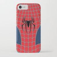 spider man iPhone & iPod Cases featuring Spider-Man by C.Rhodes Design