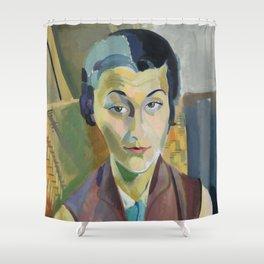 "Robert Delaunay ""Portrait of Maria Lani"" Shower Curtain"
