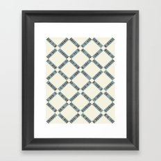 Navajo Winter Pattern Framed Art Print