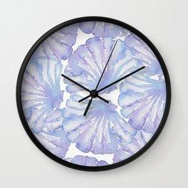 Shell Ya Later - Purple Seashell Pattern Wall Clock