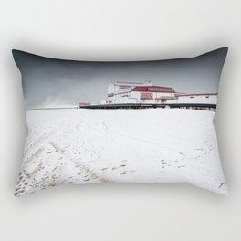 Snow on the Beach Rectangular Pillow