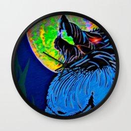 """Werewolf Moon"" Wall Clock"