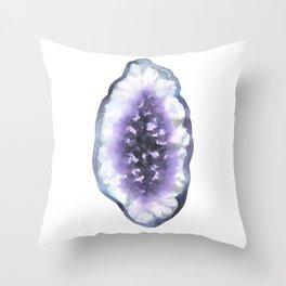 Agate slice. Throw Pillow