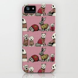 vintage chums pink iPhone Case