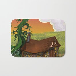Jack and the Beanstalk Cottage in the evening Bath Mat