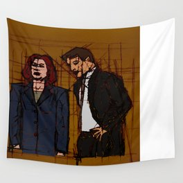 there's something out there, mulder Wall Tapestry