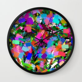 Colorful paint strokes Wall Clock